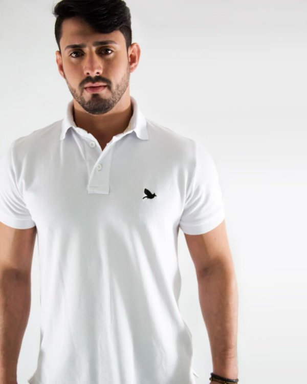 Camisa Polo Masculina Branca