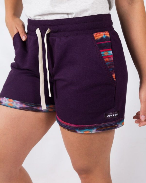 Shorts Moletom Feminino Roxo Centro Oeste