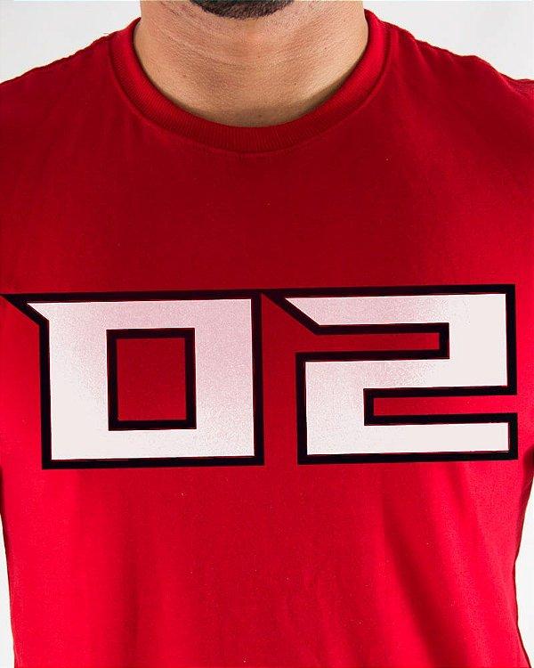 Camiseta Masculina Estampada Vermelha Atlanta