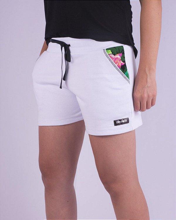 Shorts Moletom Feminino Branco Nordeste