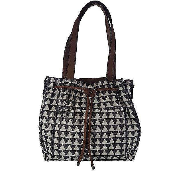 Bolsa Bag Dreams Ombro Triangle Deise Preta E Branca