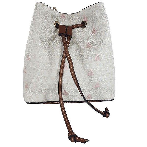 Bolsa Bag Dreams Mini Saco Triangle Branca