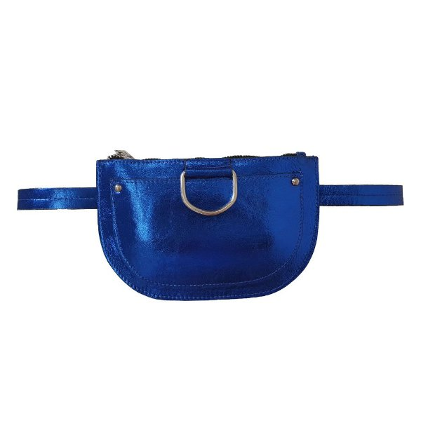 Pochete Bag Dreams Metalizada Azul Bic