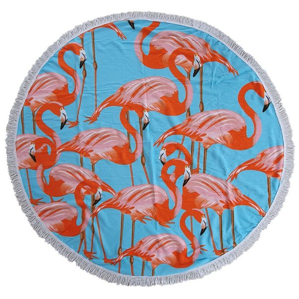 Toalha Canga Redonda Bag Dreams Flamingos