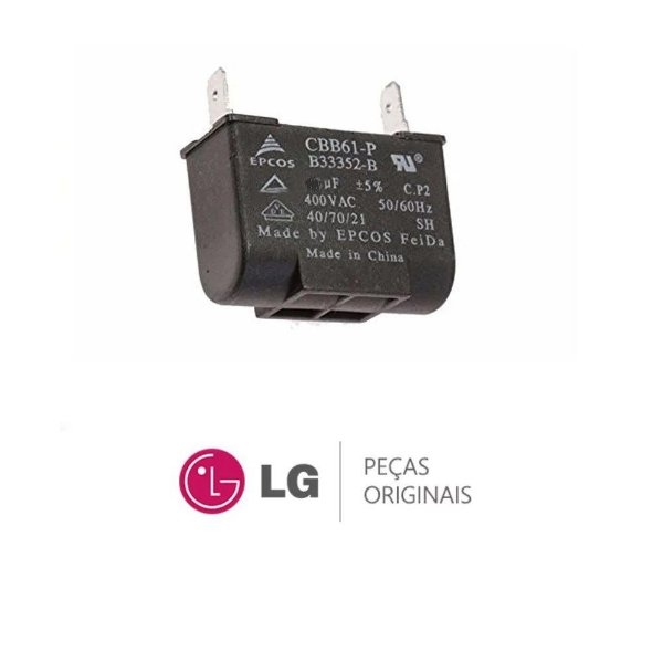 Capacitor do ventilador 2 uf 370v LG 3H01487G