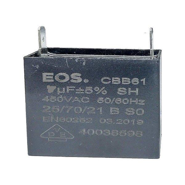 Capacitor caixa  2.5 MFD 450V