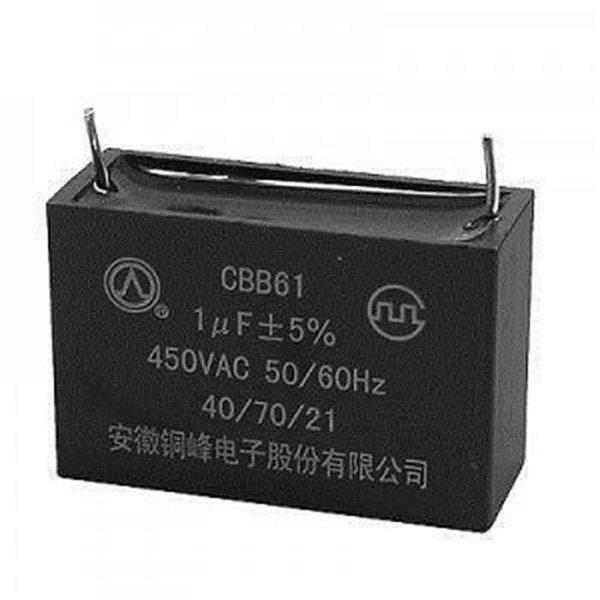 Capacitor caixa para solda placa eletronica 1 UF 450V.AC 50/60Hz