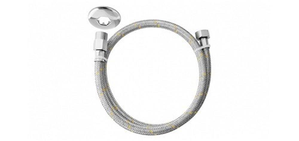 Mangueira flexível aço inox para gás rosca macho x fêmea 1/2 1,50m  180611-41