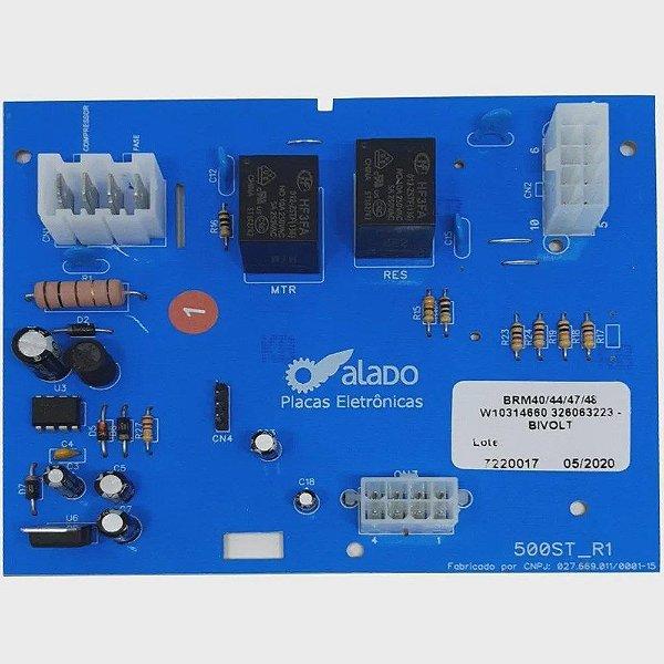 Controle eletronico refrigerador brastemp  alado  BRM40/44/47/48 W10314660 326063223 - BIVOLT