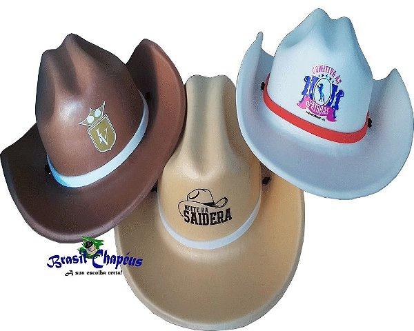 2b694d6460c8b Chapéu Cowboy de Eva-Personalizado-brindes-Adulto e Infantil-Fabricação  Própria