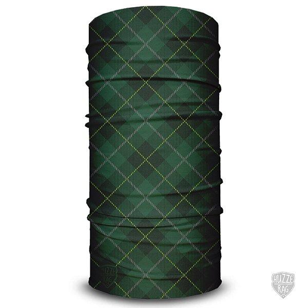 Bandana Tubular Huzze-Rag Xadrez Verde