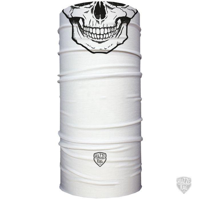 Bandana Tubular Huzze-Rag Caveira Branca e Preta