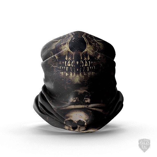 Bandana Tubular Huzze-Rag Crânios Dark