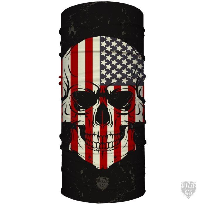 Bandana Tubular Huzze-Rag Crânio EUA