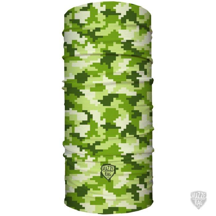 Bandana Tubular Huzze-Rag Quadricular Green