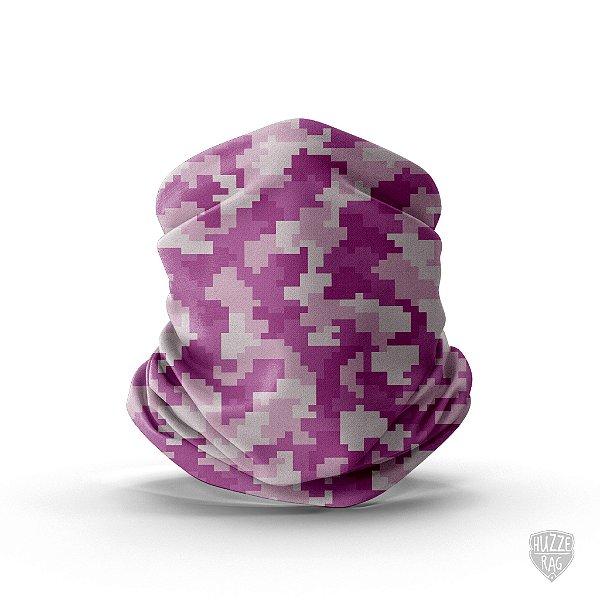 Bandana Tubular Huzze-Rag Quadricular Pink
