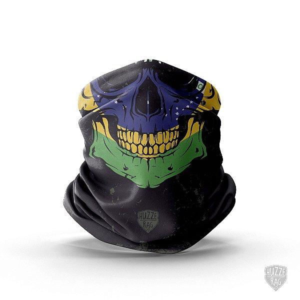 Bandana Tubular Huzze-Rag Crânio Brasil