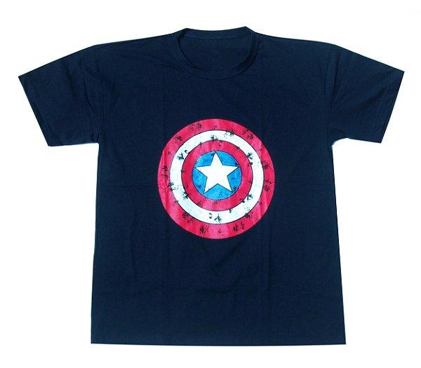 Camisa Capitão America - Cor Azul Marinho - Tamanho G - Você é o ... 3e60511a286