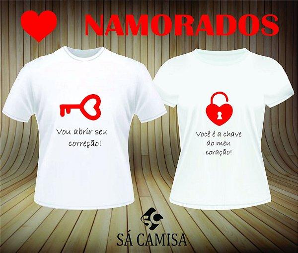 9d48fbb511546 kit com 2 Camisas Personalizadas-Namorados - Você é o nosso diferencial.