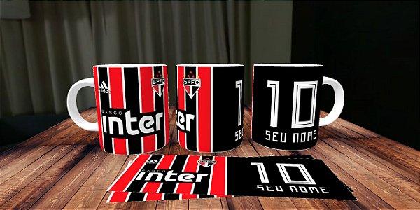 Caneca Personalizada Camisa São Paulo F .C - Com seu Nome - Você é o ... b6ed17e9019f9