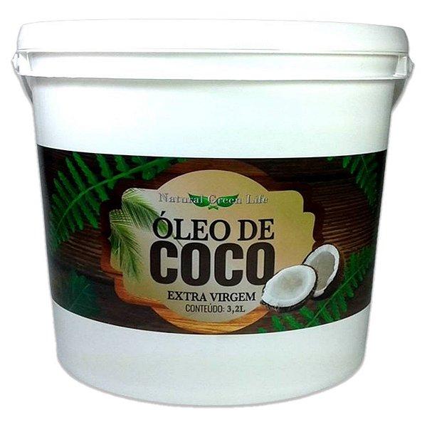 Óleo De Coco Extra Virgem - Balde De 3,2 Litros