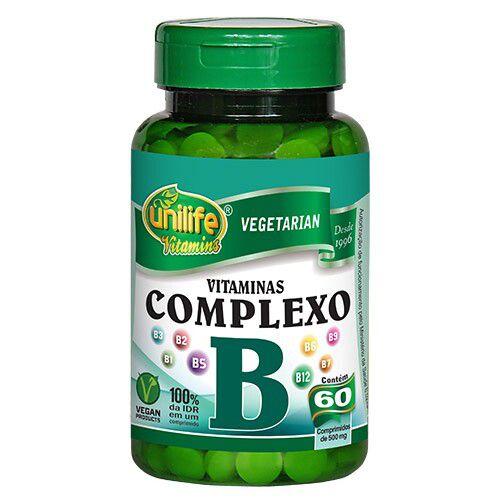 COMPLEXO B VITAMINAS - 60CAP. - UNILIFE