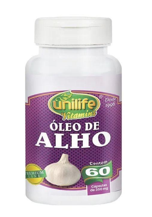 ÓLEO DE ALHO - 60 CAPS DE 350MG - UNILIFE