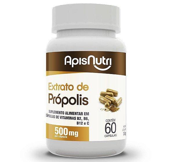 EXTRATO DE PROPOLIS 60CAP - 500MG - APISNUTRI