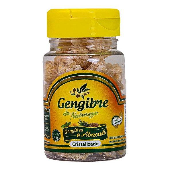 GENGIBRE CRIST. ABACAXI - 40G - DA NATUREZA
