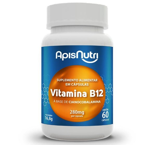 VITAMINA B12 - 60CP - 280MG - APISNUTRI