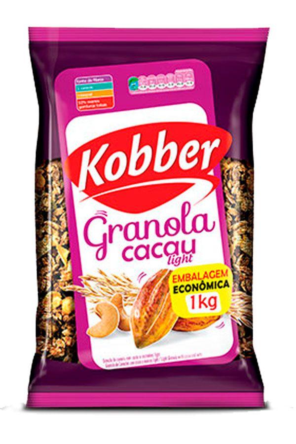 GRANOLA CACAU NATURAL LIGHT - 1KG - KOBBER