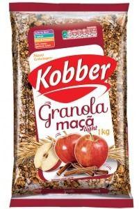 GRANOLA MAÇA E CANELA LIGHT - 1KG - KOBBER