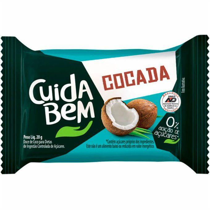 COCADA ZERO AÇUCAR - 20GR - CUIDA BEM
