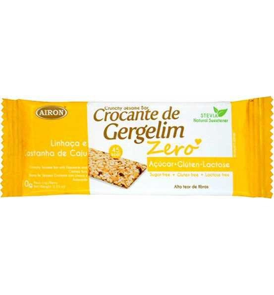 CROCANTE DE GERGELIM ZERO LINHAÇA/CAST CAJU - 10G - AIRON