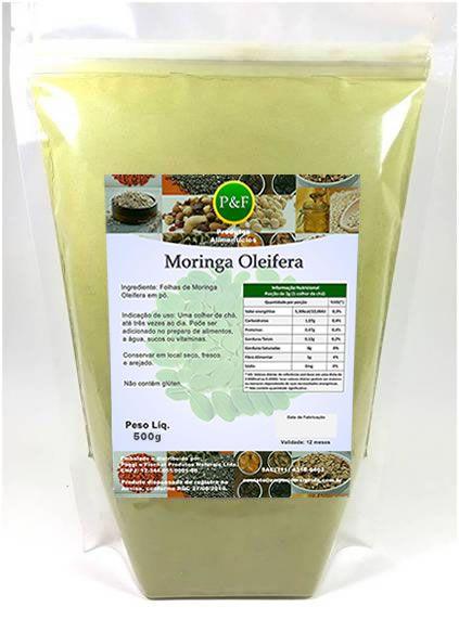 Moringa Oleifera Em Pó Orgânica 100% Pura - 500g