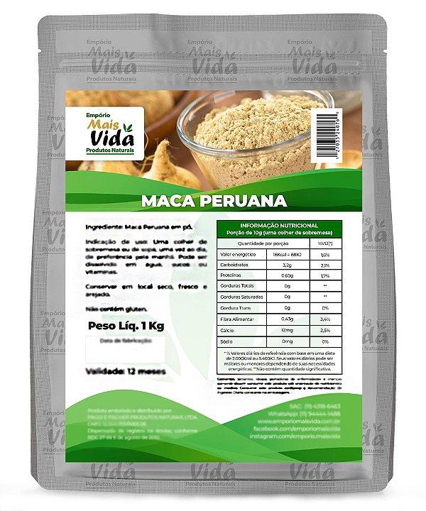Maca Peruana Em Pó 100% Pura