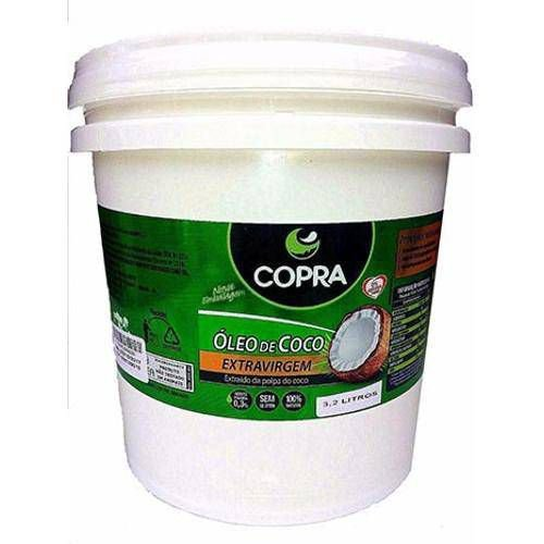 Balde de óleo de coco extra-virgem - Copra 3,2L