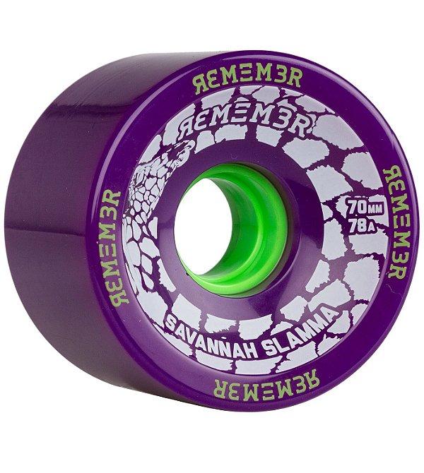 Roda Remember Savannah Slamma 70mm 78a Roxa