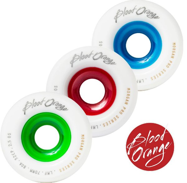 Roda Blood Orange Morgan PRO 70mm 80A/82A/84A