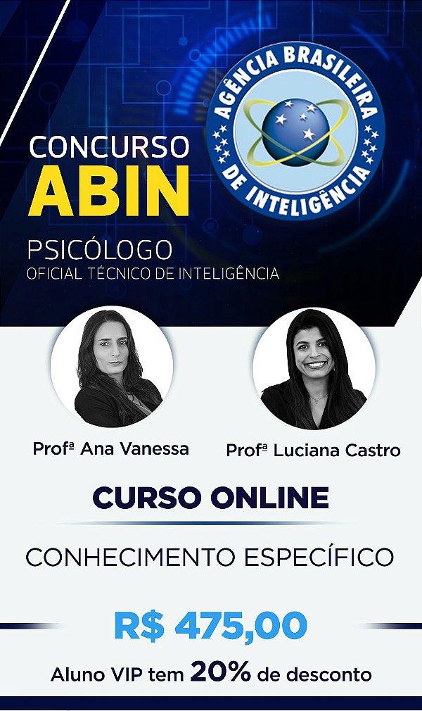 Curso Online: ABIN 2018  (Conhecimentos Específicos)