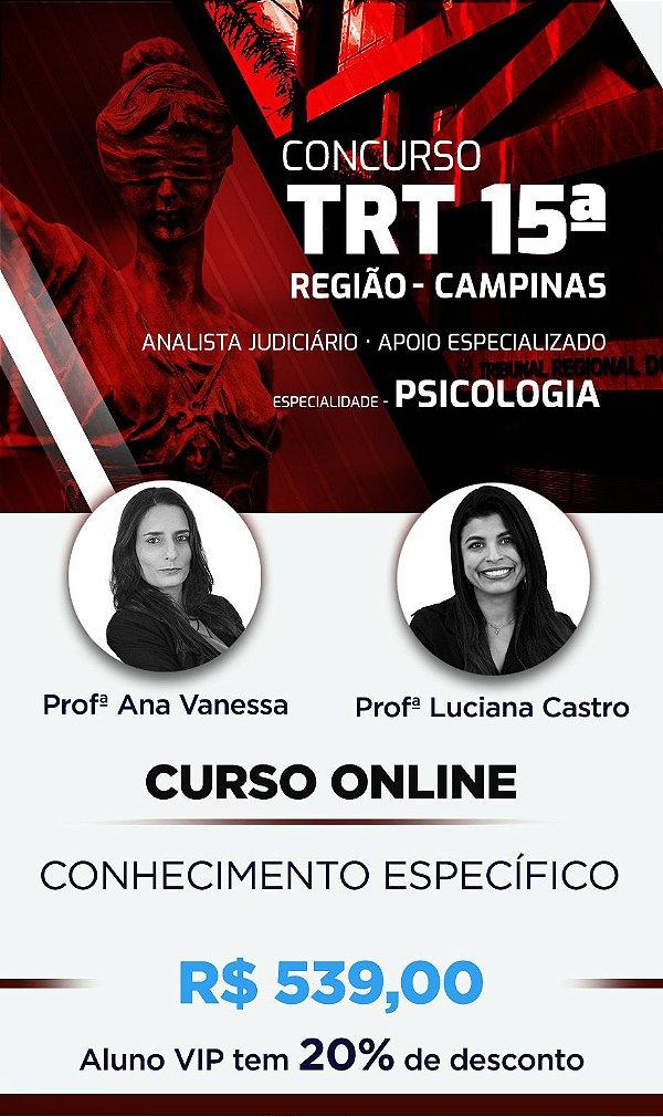 CURSO ONLINE ESPECÍFICO: TRT 15º REG./SP 2018