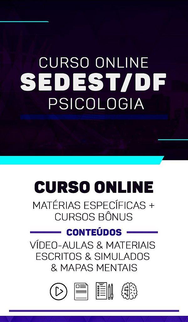Curso Online - Concurso SEDEST-DF (Matérias Específicas + Cursos Bônus)
