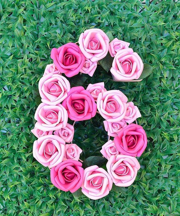 Número Decorado Com Flores - Mesversário