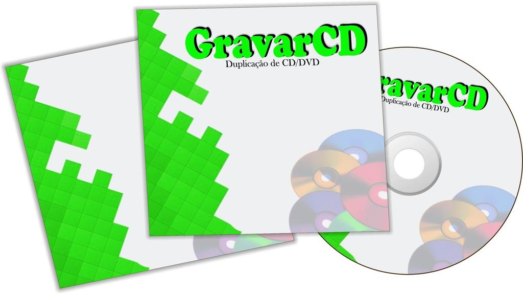 1000  Cópias de CD com Envelope 12x12 Simples
