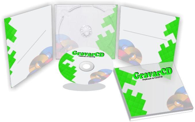 1000 CDs Injetados com Envelope Digipack 3 paineis