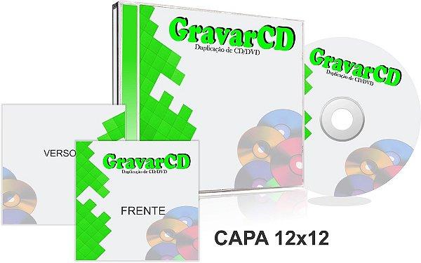 500 Cópias de Cds no Box Acrílico com Encarte 12x12 + Fundo de caixa