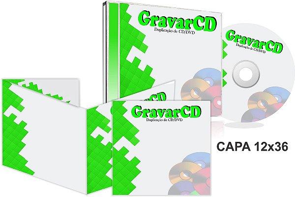 1000 Cópias de Cds no Box Acrílico com Encarte 12x36 + Fundo de caixa