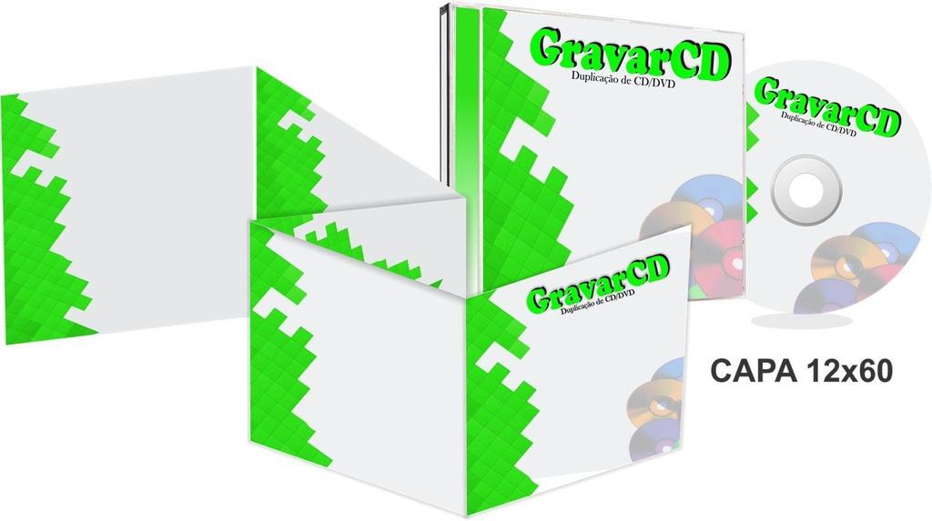 1000 Cópias de Cds no Box Acrílico com Encarte 12x60 + Fundo de caixa