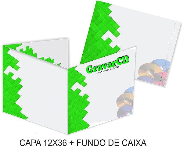 1000 Encarte 12x36 + Fundo de caixa impressão 4x4