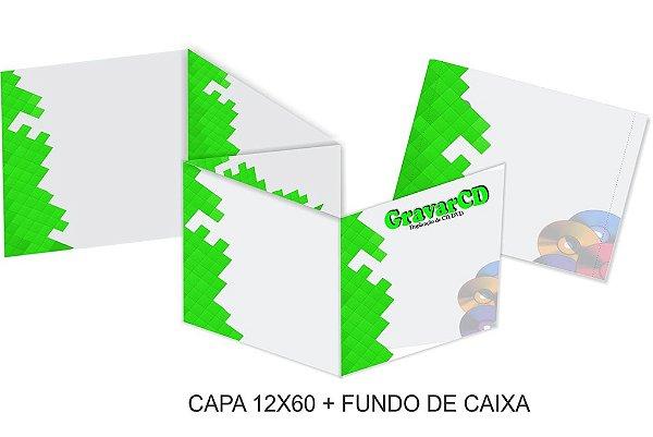 1000 Encarte 12x60 + Fundo de caixa impressão 4x4